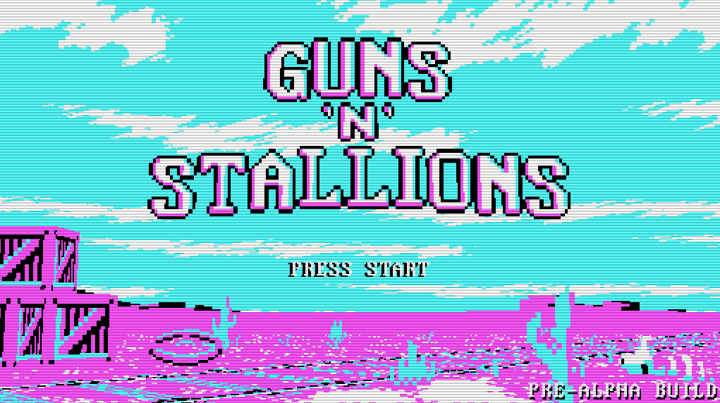 Guns 'n' Stallions is an 8-bit arcade indie game.
