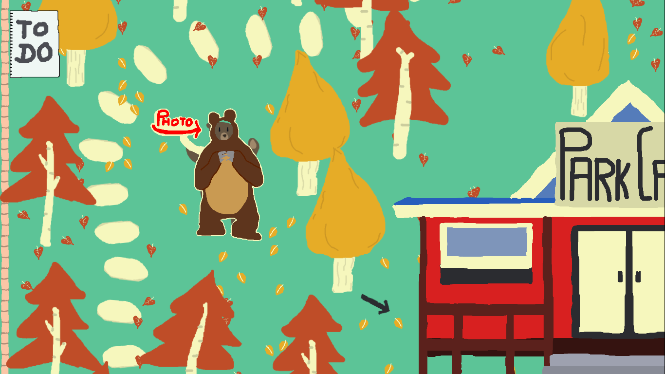 Adventure indie game Bear with Me.