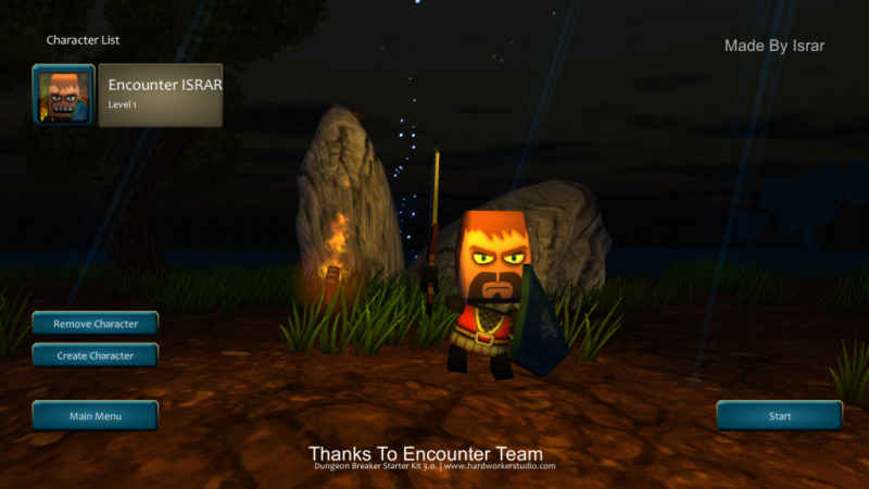 Encounter Dugeon is an action indie game with multiplayer and dungeon crawling.