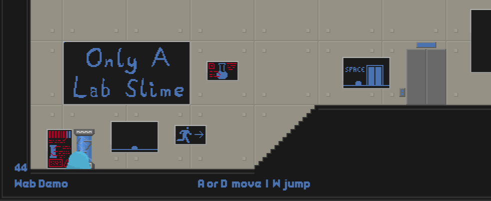 Only a Lab Slime is an indie platformer.