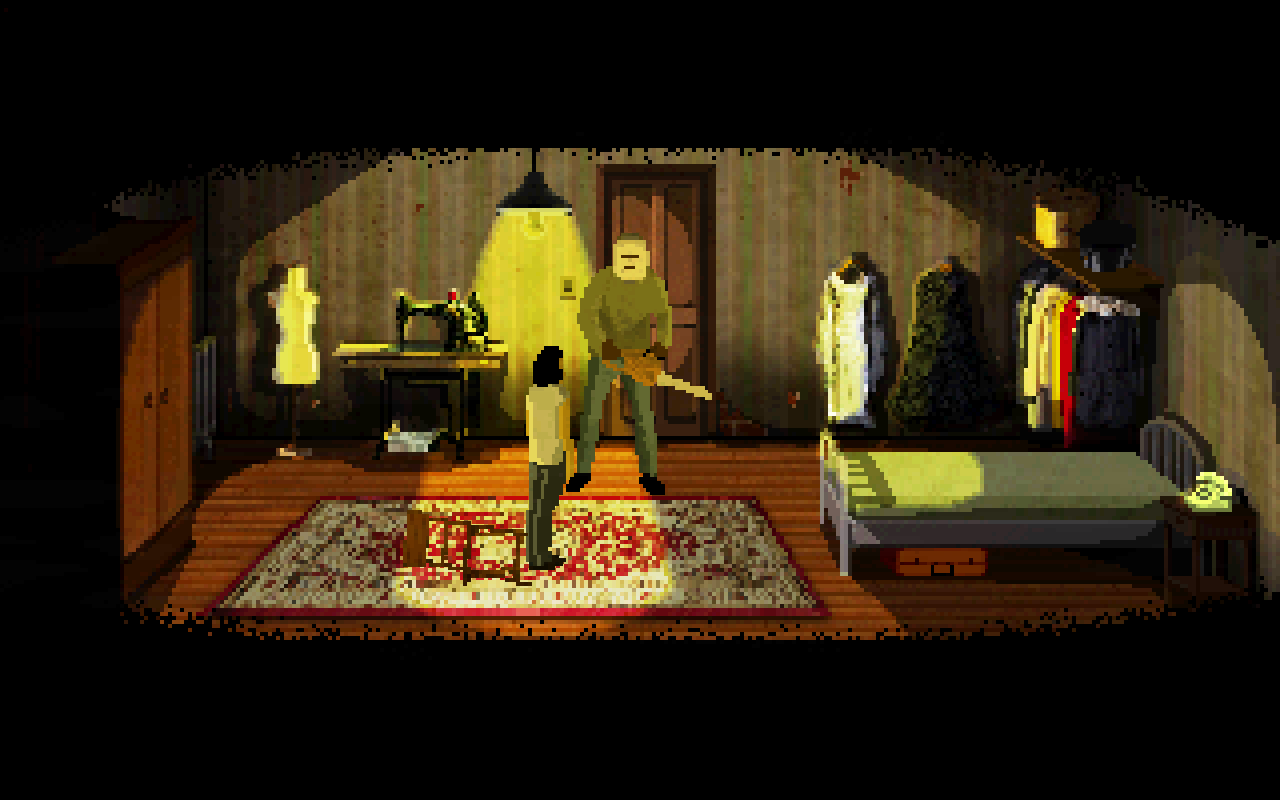 JORRY (Early Access) – A Pixel Horror Point-And-Click Adventure in Freezing Cold House