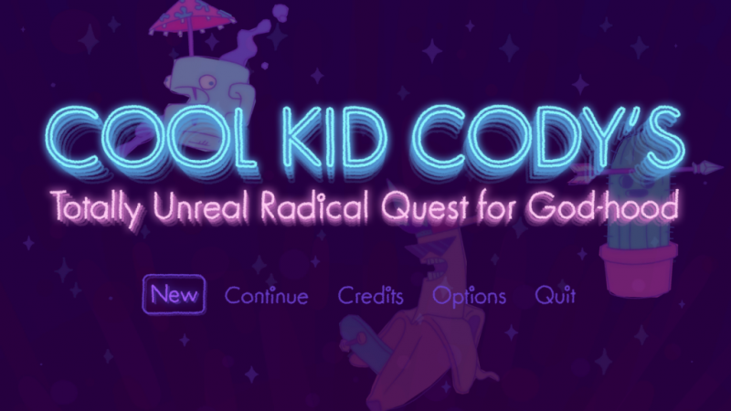 Cool Kid Cody's Totally Unreal Radical Quest for Godhood download game play review